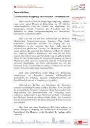 Generalsekretär Hongkongs setzt Besuch in Deutschland fort