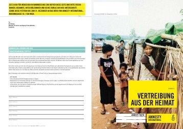 VERTREIBUNG AUS DER HEIMAT - Amnesty International Österreich