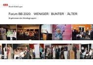 Forum BB 2020: WENIGER · BUNTER · ÄLTER - Stadt Böblingen