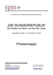 """""""DIE WUNDERREPUBLIK"""" Pressemappe - SPM Media"""