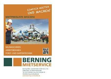Mietpreisliste 2013/2014!!! - Berning