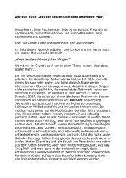 Rede zur Entlassung der Abiturientinnen und Abiturienten 2008 von ...