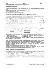 Kohlenwasserstoffe - Kantonsschule Trogen