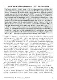 medicamenteuze aanpak van de ziekte van parkinson - Bcfi.be