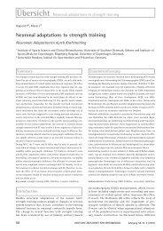 Neuronal adaptations to strength training - Deutsche Zeitschrift für ...
