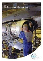 MSc Maintenance Management - Glasgow Caledonian University