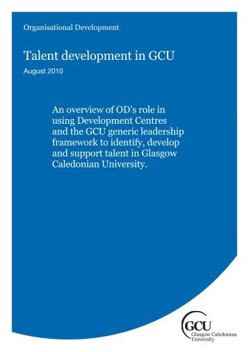 Talent development in GCU - Glasgow Caledonian University