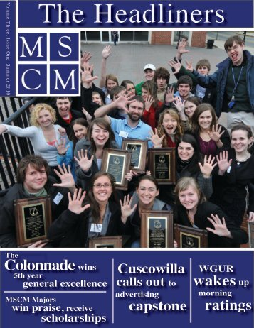 MSCM Newsletter Summer 2010 - Georgia College & State University