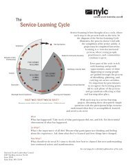Service-Learning Cycle - H2O for Life