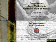 Deep-Water Core Workshop, Northern Gulf of Mexico: Abstracts