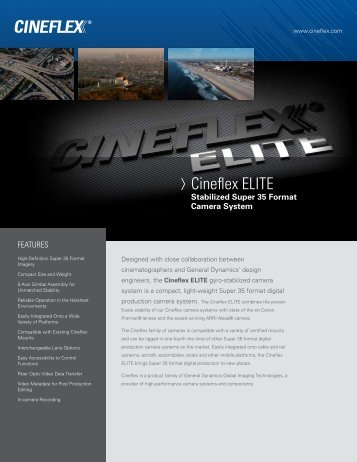 Cineflex ELITE - General Dynamics Global Imaging Technologies