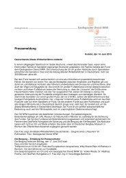 Pressemeldung - Geologischer Dienst NRW