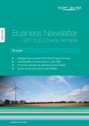 Business Newsletter - GDF SUEZ Energy România
