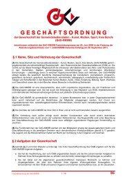 Geschäftsordnung - FSG