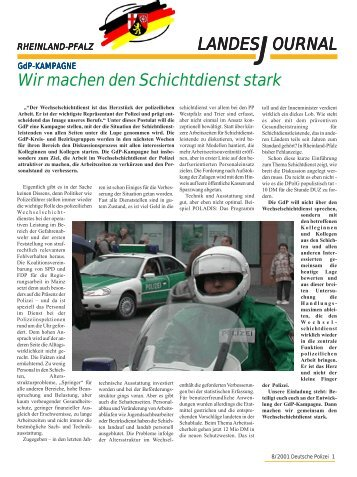Journal August 2001 - gdp-deutschepolizei.de