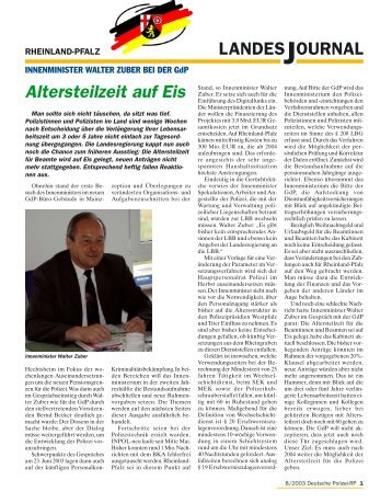 Journal August 2003 - gdp-deutschepolizei.de