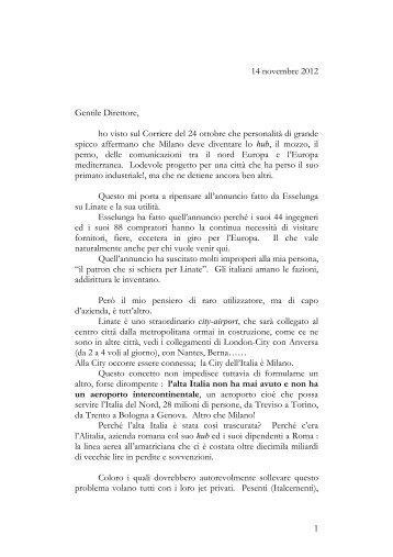 Lettera Dr. Caprotti sito - Gdoweek