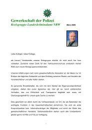 Gewerkschaft der Polizei Kreisgruppe Landeskriminalamt NRW - GdP