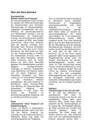 Über den Zaun geschaut - (GdP) - Kreisgruppe Recklinghausen