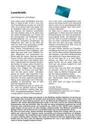 Leserbriefe - (GdP) - Kreisgruppe Recklinghausen