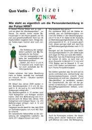Quo Vadis – - (GdP) - Kreisgruppe Recklinghausen
