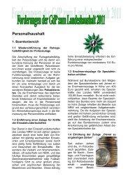 Personalhaushalt - (GdP) - Kreisgruppe Recklinghausen