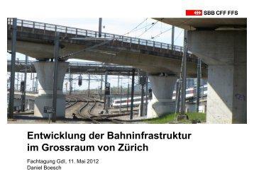 Entwicklung der Bahninfrastruktur im Grossraum von Zürich - gdi
