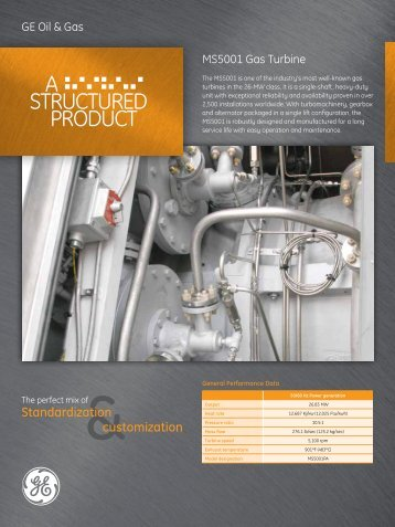 MS5001 Gas Turbine / PDF 1240kb - GE Energy