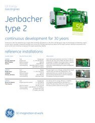 Type 2 Gas Engine Brochure (US Version) / PDF 246kb - GE Energy
