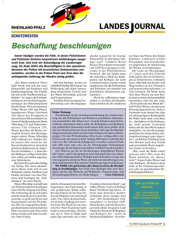 Journal September 2003 - gdp-deutschepolizei.de