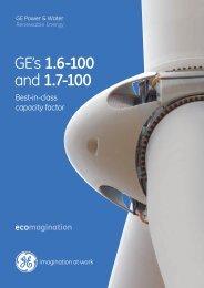 GE's 1.6-100 and 1.7-100 - GE Energy