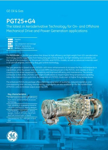 PGT25+G4 Gas Turbine - GE Energy