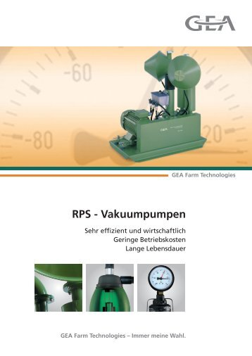 RPS - Vakuumpumpen - GEA Farm Technologies