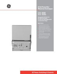 63kA Power/Vac Metalclad Switchgear - GE Energy