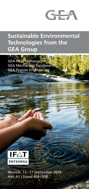 Sustainable Environmental Technologies from the ... - GEA Wiegand