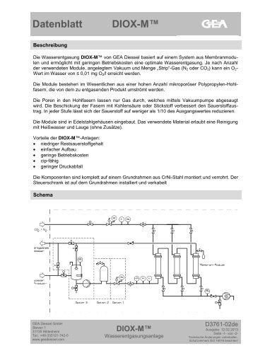 Datenblatt DIOX-M™ - GEA Diessel GmbH