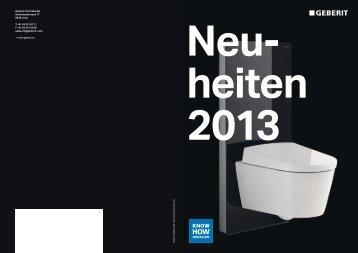 Broschüre Neuheiten 2013 - Geberit