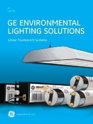 GE EnvironmEntal liGhtinG SolutionS - GE Lighting Asia Pacific