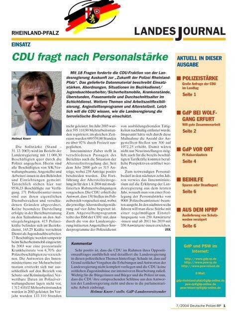 Journal Juli 2004 - gdp-deutschepolizei.de