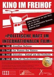 POLITISCHE HAFT IM INTERNATIONALEN FILM« »POLITISCHE HAFT IM ...