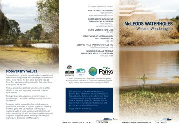 McLEOdS WATERhOLES - City of Greater Geelong