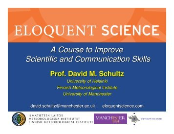 Eloquent Science: A course to improve scientific and communication ...
