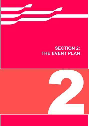 SECTION 2: THE EVENT PLAN - City of Greater Geelong