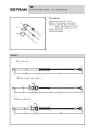 Resistance Thermometers for the Plastics Industry ... - gefran.cz