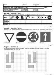 Prüfung 11: Symmetrien (725) - Gegenschatz.net