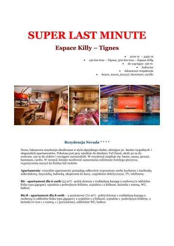SUPER LAST MINUTE Espace Killy – Tignes - Gejsza Travel