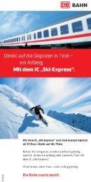 Direkt auf die Skipisten in Tirol ?