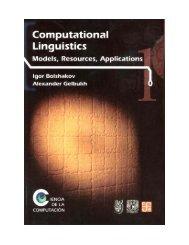 Computational Linguistics - Alexander Gelbukh