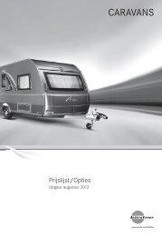 Burstner prijslijst 2013 - Gelderse Caravan Centrale