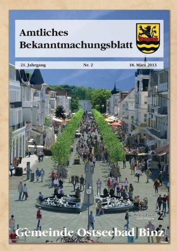 Nr. 2 vom 18. März 2013 - Gemeinde Binz